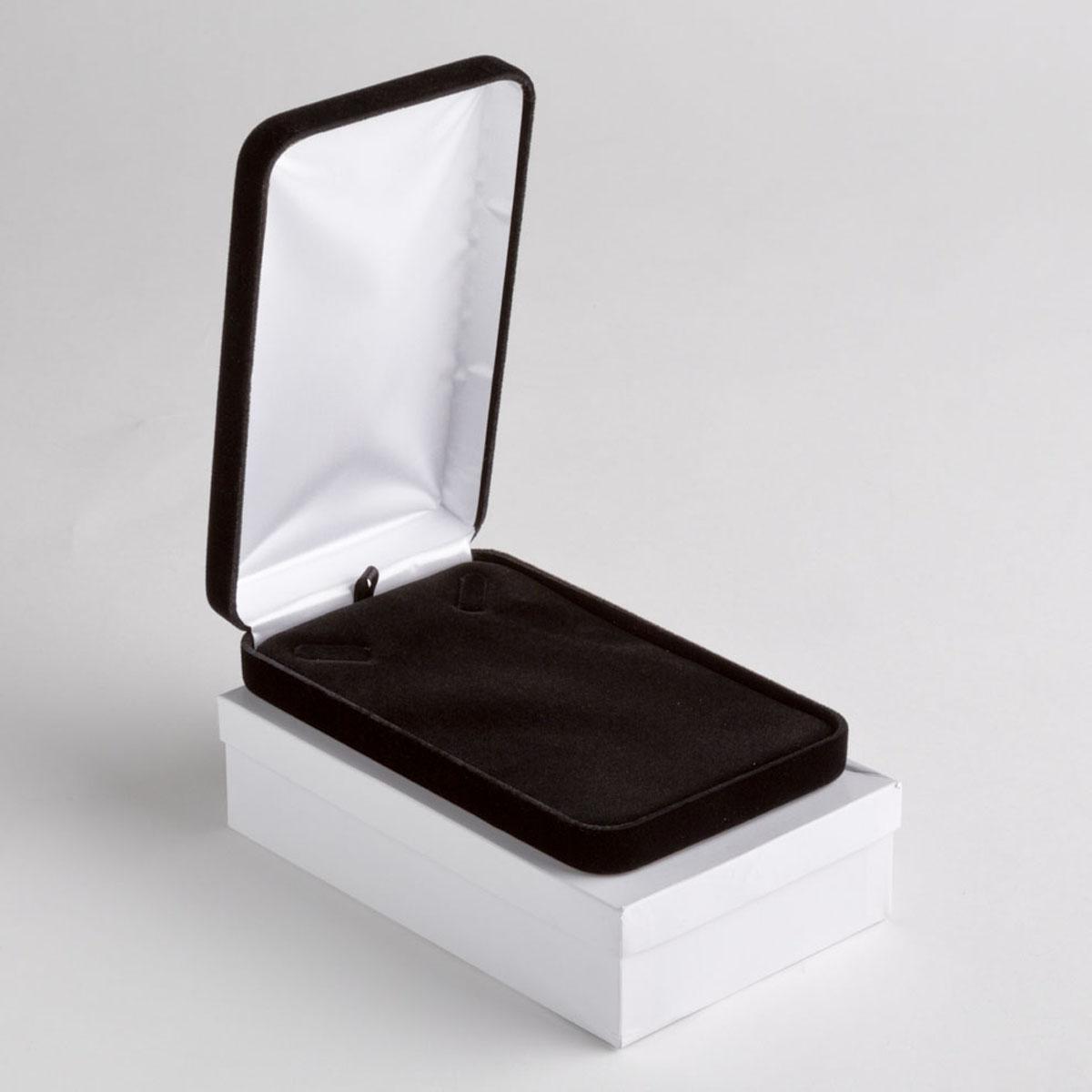Black Velvet Necklace Box AB Store Fixtures