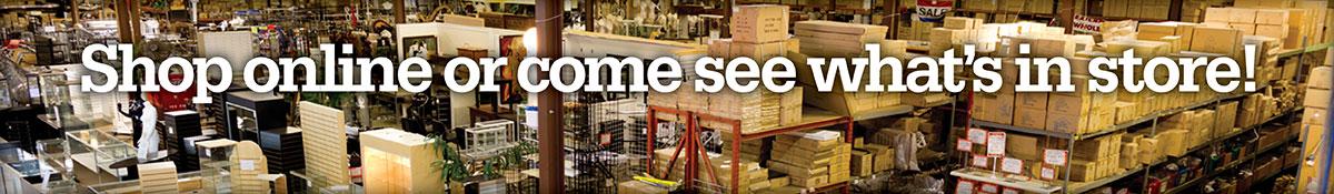 A&B Store Fixtures Warehouse Panorama