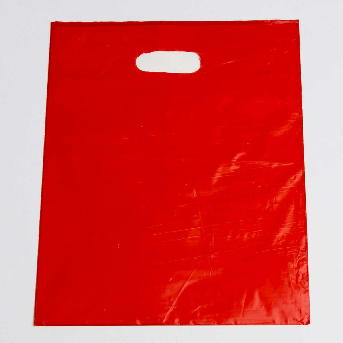 Red Plastic Shopping Bags Medium A Amp B Store Fixtures