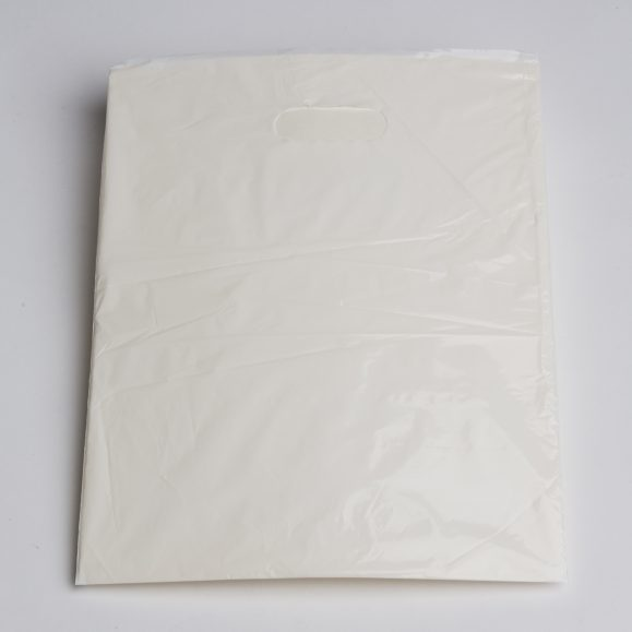 Medium White Low Density Plastic Bag
