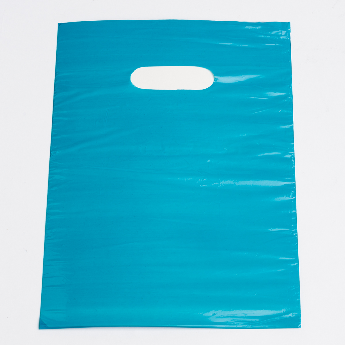 Small Teal Low Density Plastic Bag