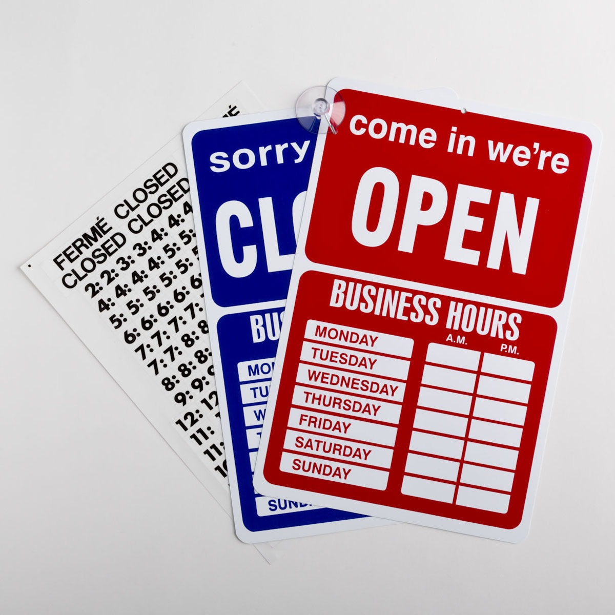 Blue and Red Open/Closed Sign Kit