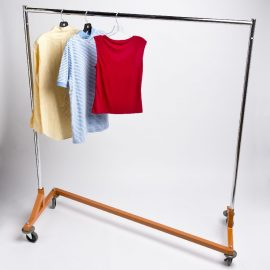 Rolling Clothing Rack Single Collapsible A Amp B Store