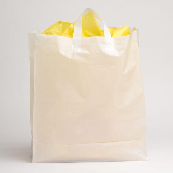 Extra Large White Plastic Shopping Bag