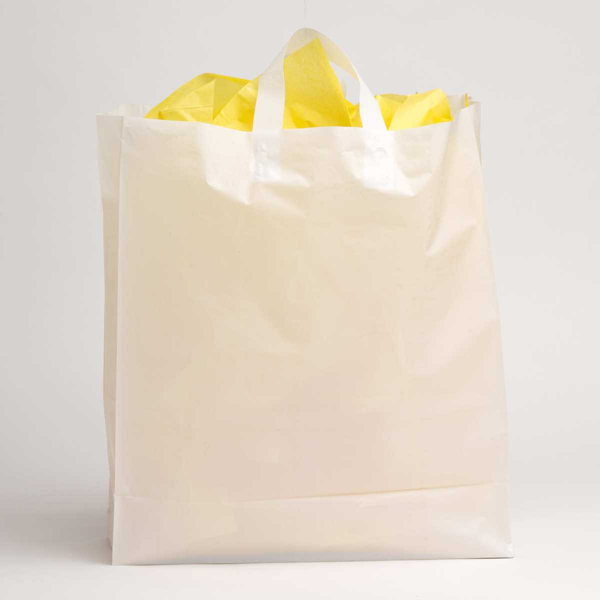 White Plastic Shopping Bags - Extra Large | A&B Store Fixtures