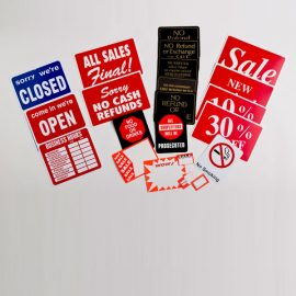 Policy Signs & Marker Boards